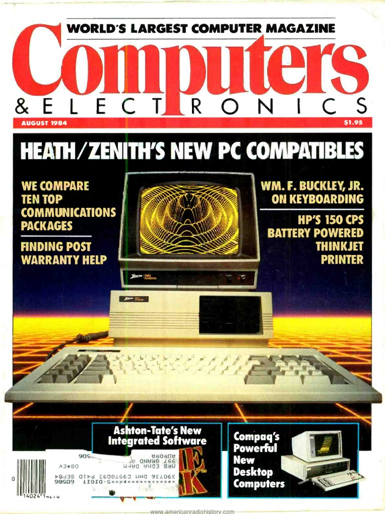 Computer Electronics Aug 1984 Word Processor Microcomputers Switchmate39 Lets You Run Light Switch From Your Phone Without Rewiring