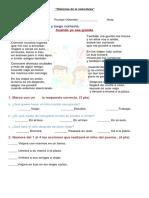 Evaluación Lenguaje Unidad 2