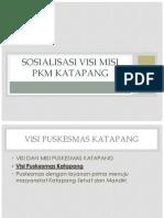 Sosialisasi Visi Misi Pkm Katapang