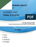 PL 04 OOP Static Final