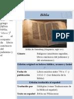 Biblia - Wikipedia, La Enciclopedia Libre