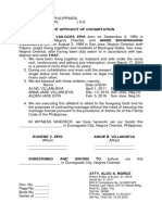 Affidavit of Cohabitation