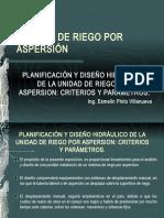 7001077 Planificacion y Diseno Unidad de Riego Aspersion