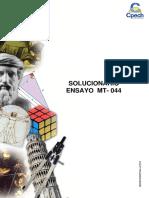 Solucionario Ensayo MT 044 2016