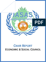 ecosoc chair report