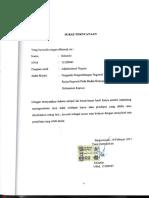 Surat Pernyataan Plagiat FISIP Uniska