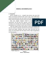 Mineral Dan Mineralogi II