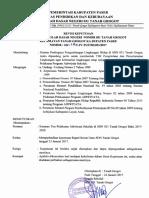 SK Revisi Tim Adiwiyata SDN 031 TGT Tahun 2017