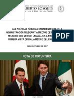 Visita al Senado de la Repúbloca Trudeau 121017