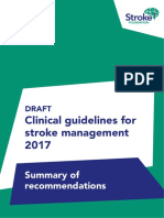 Draft Clinical Guidelines for Stroke Management 2017 Summary of Recommendations Public Consultation 1