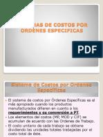 SISTEMAS DE COSTOS POR ORDENES ESPECIFICAS