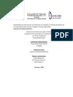 Metodología de Intervención en Embarazo en conflicto y/o riesgo de aborto de la corporacion maria ayuda V región periodo 2002-2005. Informe de sistematización