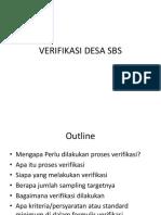 Verifikasi Desa SBS/ ODF