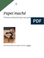 Papel Maché - Wikipedia, La Enciclopedia Libre