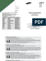 Manual Samsung Le27s71b