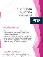 The Deposit Function