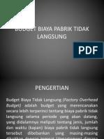 Budget Biaya Pabrik Tidak Langsung