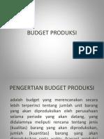 Budget Produksi