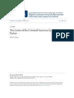 The Limits of the Criminal Sanction by Herbert L. Packer-Yerkes