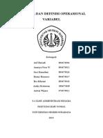 37849933 Variabel Dan Definisi Operasional Variabel
