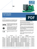 C200 D5e Spec Sheet Open Diesel Generator
