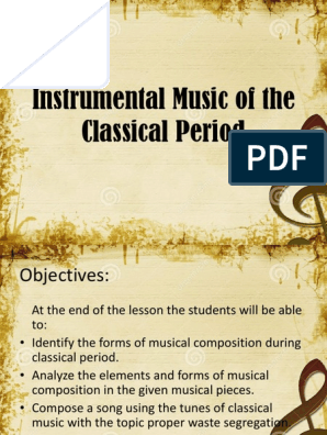 Instrumental Music of the Classical Period | Classical