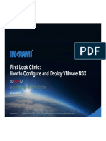 First Look Clinic How to Configure and Deploy VMware NSX