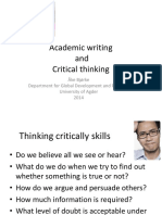 Academic Writing and Critical Thinking(IMPORTANT)