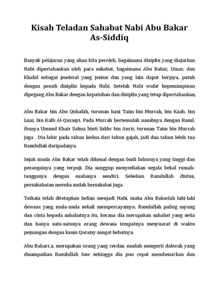 Sahabat rasulullah pdf kisah
