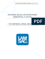 Informe Anual Monitoreo Ambiental Social 2015
