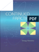 Doug Hensley Continued Fractions
