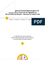 Custo da lavagem peritoneal laparoscópica em comparação à ressecção de sigmóide na diverticulite perfurada - amostra do Ladies trial