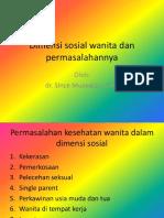 Dimensi Sosial Wanita Dan Permasalahannya