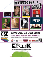 Offizieller GalaGuide zur CSD Eröffnungsgala 2010