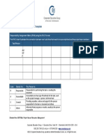 Responsibility Assignment Matrix Template