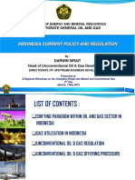 Indonesian Current Policy & Regulation