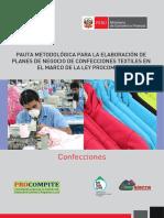 Pauta Planes de Negocio Confecciones Textiles