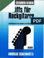Andres Scheinhütte - Riffs Für Rockgitarre