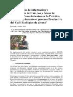 Experiencia de Integración y Articulación de Campos y Áreas de Saberes y Conocimientos en La Práctica Educativa