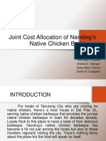 Joint Cost Allocation of Nandings Native Chicken Barbecue