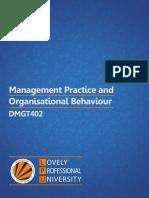 Dmgt402 Management Practices and Organizational Behaviour