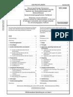 [VDI 2456-2004-11] -- Messen Gasförmiger Emissionen - Referenzverfahren Für Die Bestimmung Der Summe Von Stickstoffmonoxid Und Stickstoffdioxid - Ionenchromatographisches V