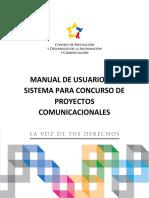 Manual de Usuario Del Sistema Para Concurso de Proyectos Comunicacionales