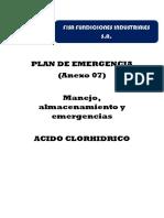 Plan de Emergencia Acido CLORHIDRICO