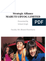 Strategic Alliance at MARUTI