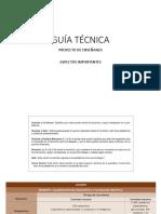 ASPECTOS IMPORTANTES DE LA GUÍA TÉCNICA