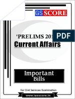 Important Bills - PT Current Affairs