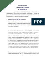Contenido de La Sesion 11 Derecho Financiero El Presupuesto