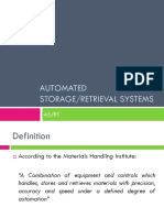 Automated Storage and Retrieval Systems
