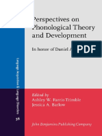 2014 Peresectives on Phonological Theory and Development